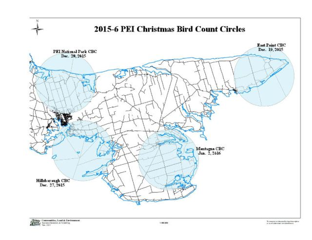2015-6 PEI CBC Count Circles