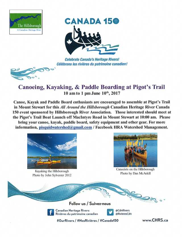 Poster Canoing Kayaking Paddle Boarding All Around the HIllsborough Jun 10 2017 p. 2