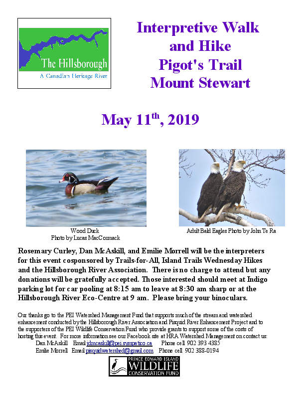 Poster Interpretive Walk and Hike Pigot's Trail May 11 2019 fin